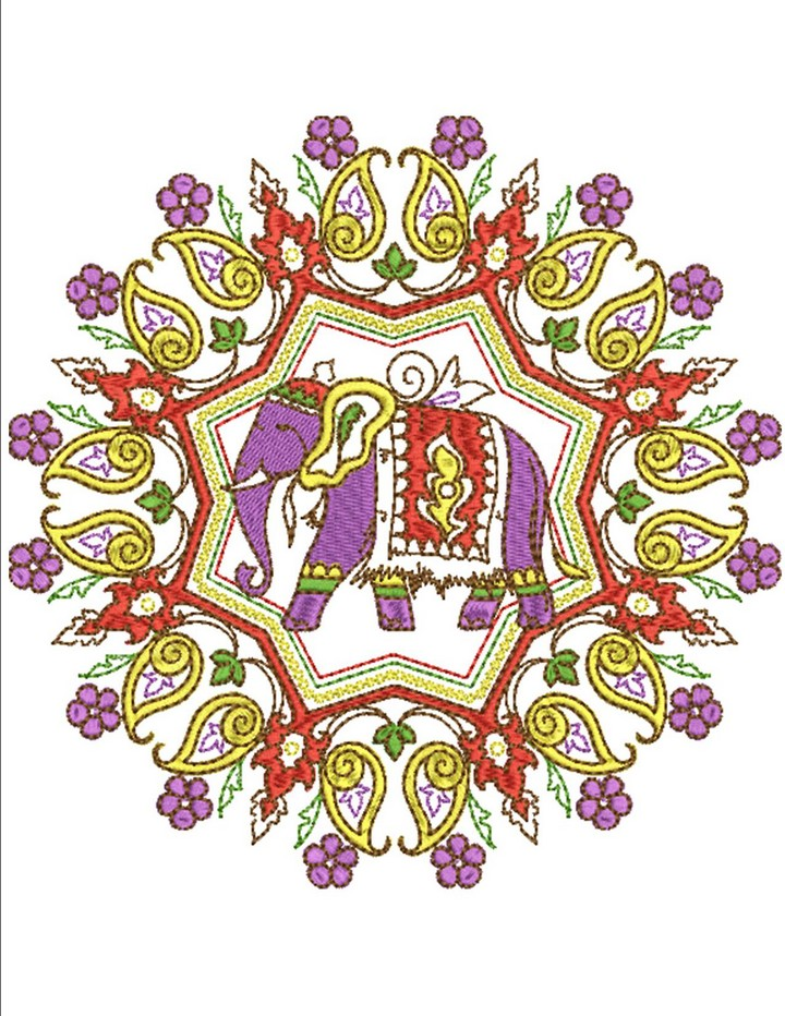 Indian Tapestry Machine Embroidery Designs By Sew Swell