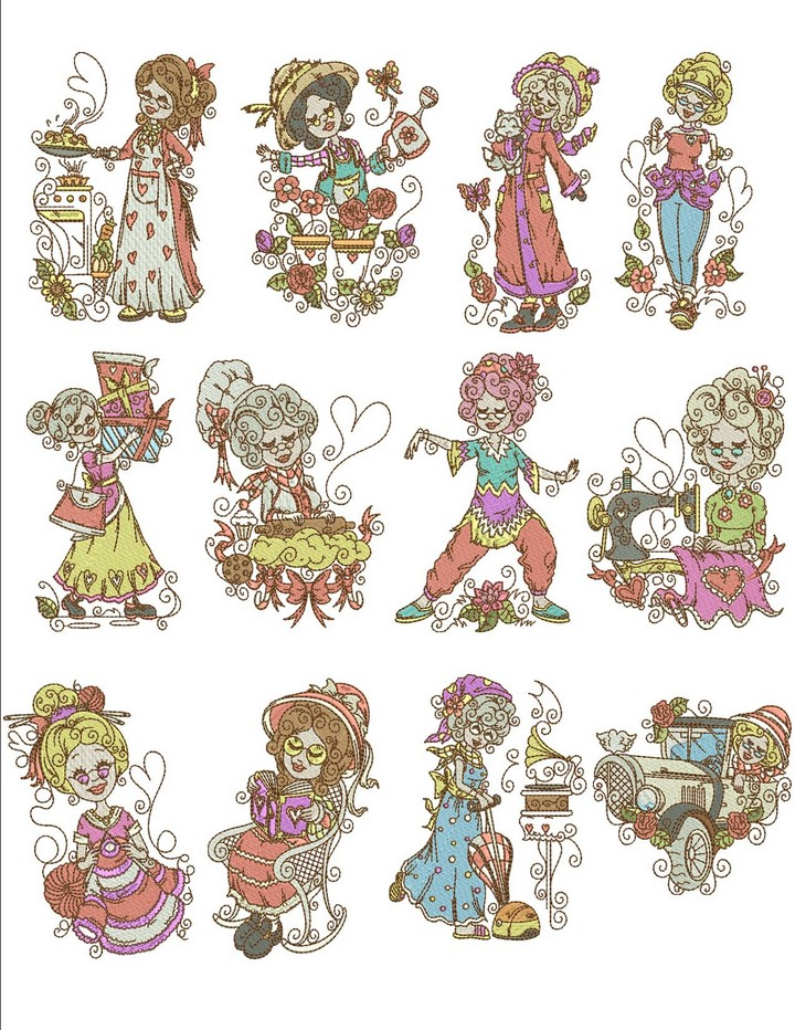 Love Grannies Machine Embroidery Designs By Sew Swell