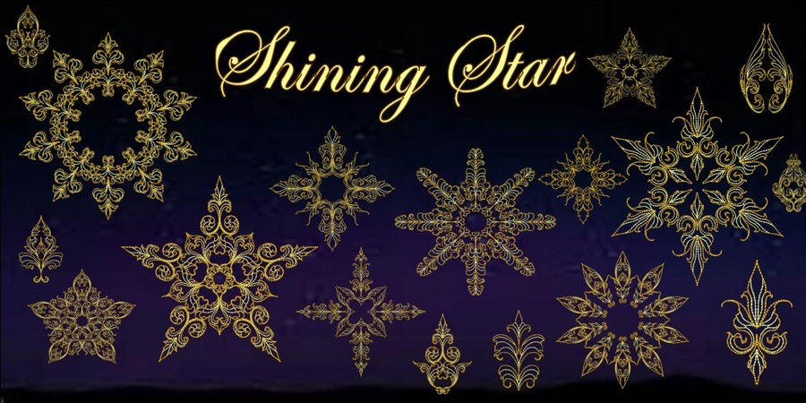 Shining Star Machine Embroidery Designs By Sew Swell