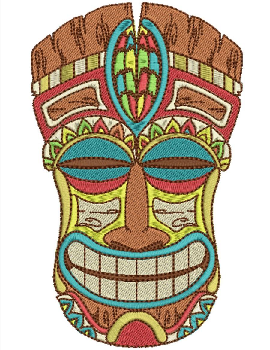 Tiki time machine embroidery designs by sew swell tiki time stopboris Images