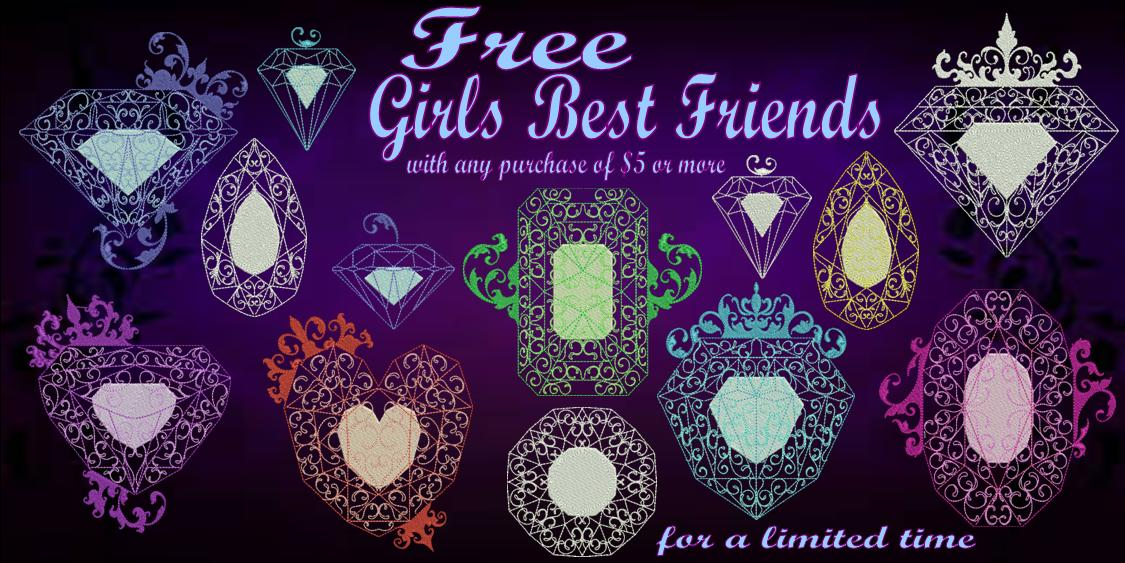 Girls Best Friends Banner Free
