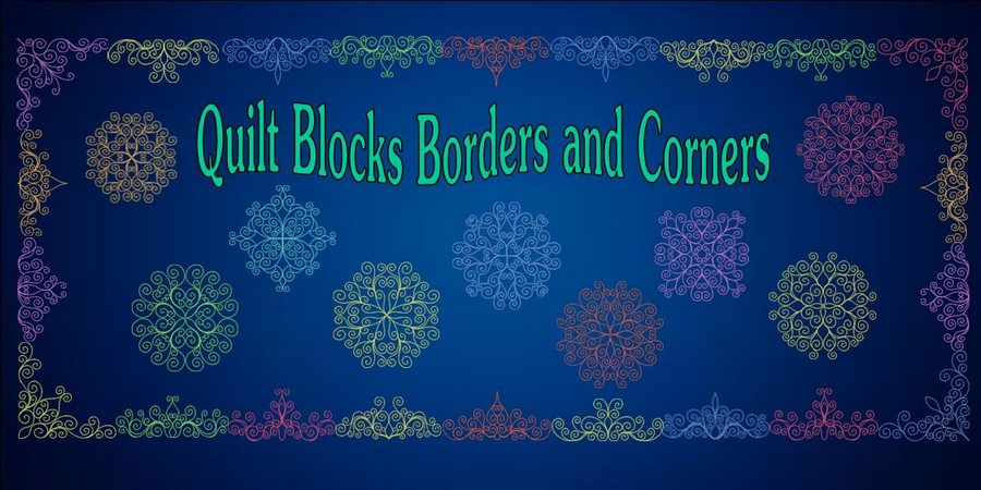 Quilt Blocks Borders and Corners Banner_900