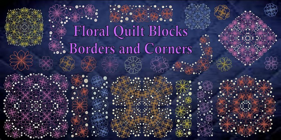 Floral Blocks Borders and Corners Banner_900