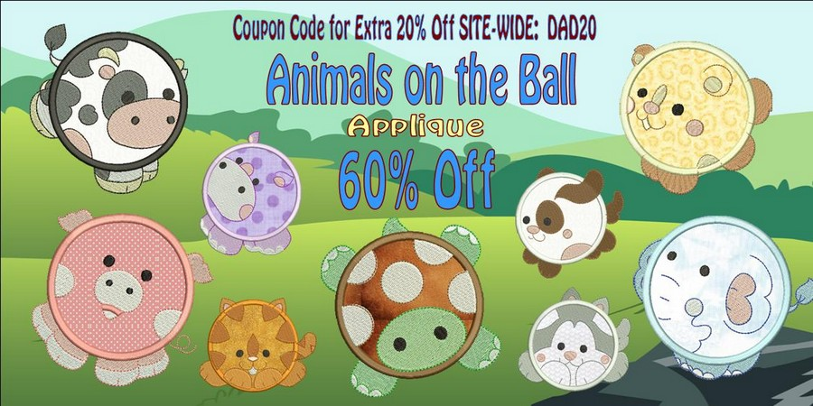 Animals on the Ball 60% Off Banner_900