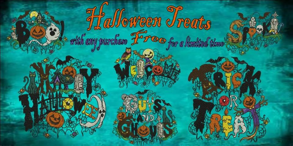 Halloween Treats Free Banner