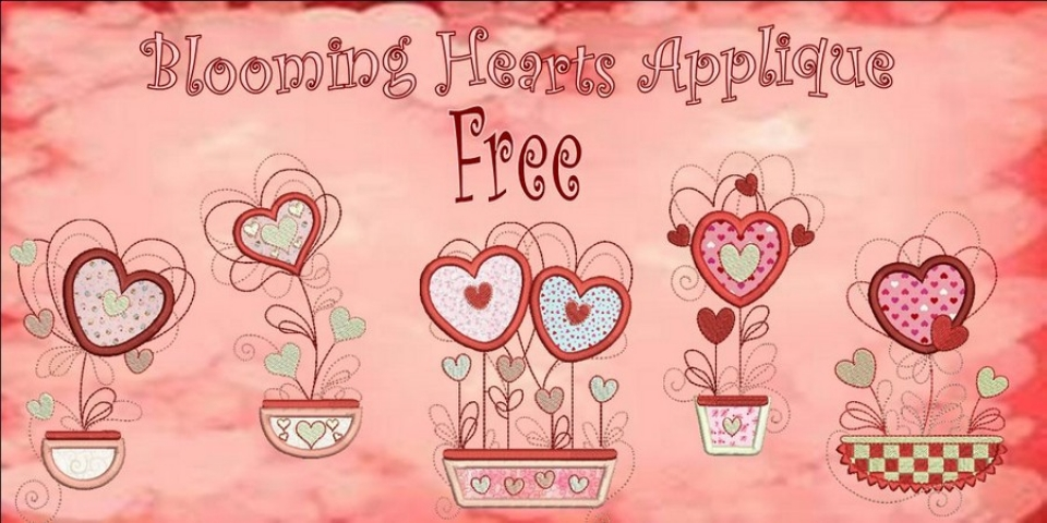 Blooming Hearts Applique Banner_900