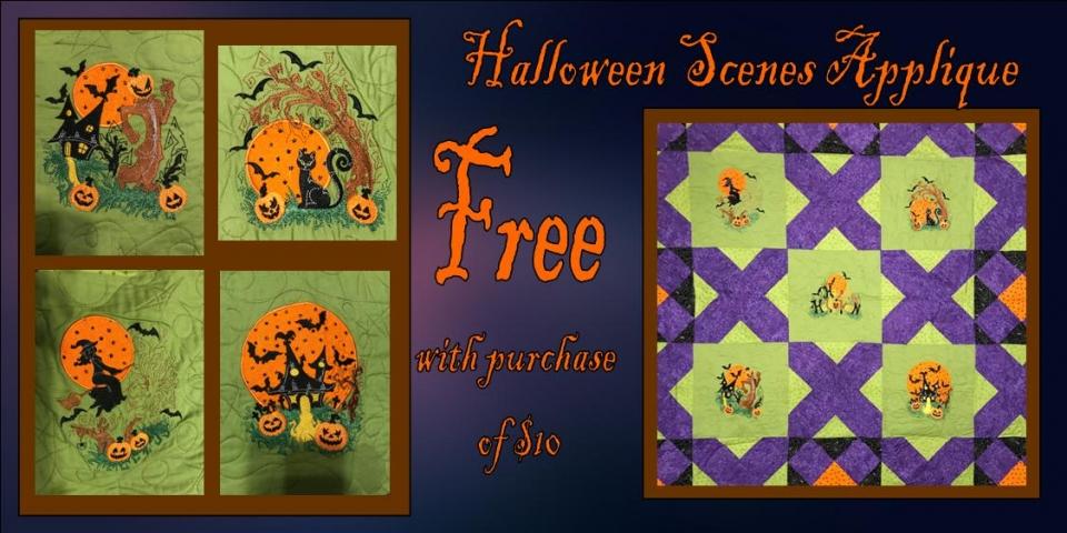 Halloween Scenes Free Banner