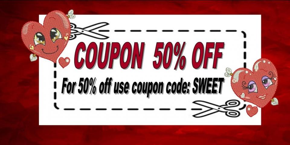 Coupon 50% sweet