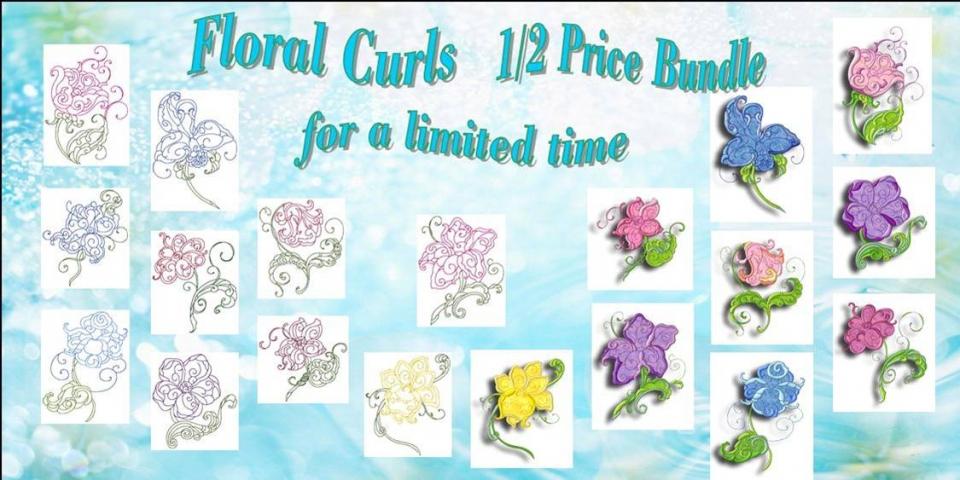 Floral Curls Banner