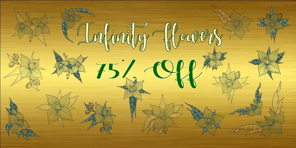 Infinity Flowers Banner