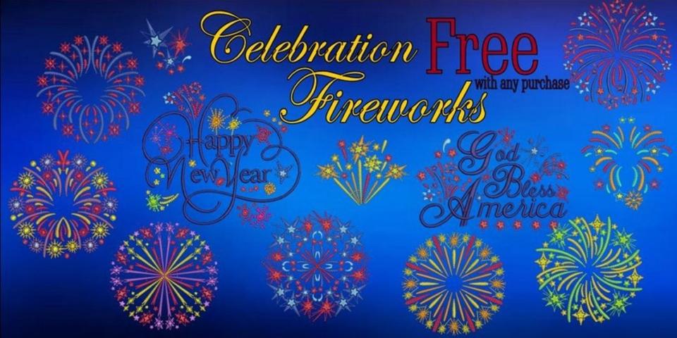 Celebration Fireworks Banner