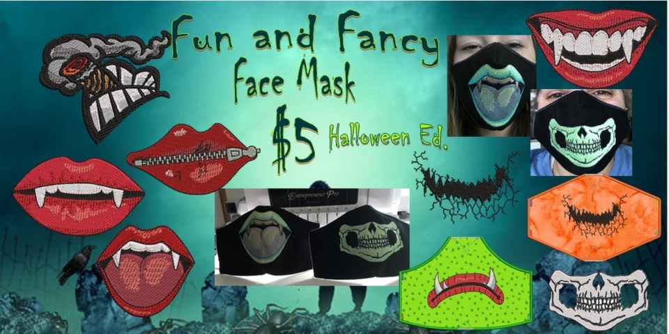 Fun and Fancy Face Mask Banner
